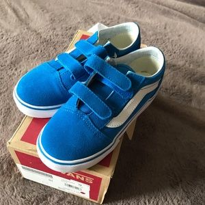 Amazing blue suede/canvas vans, new in box!